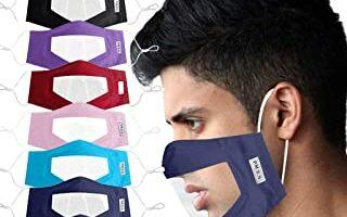 Protector Adulto Claro Ventana Visible expresión para los sordos y difíciles de oír