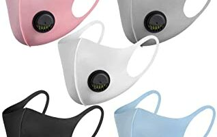 máscaras faciales reutilizables, con válvula de aire y trabillas para las orejas