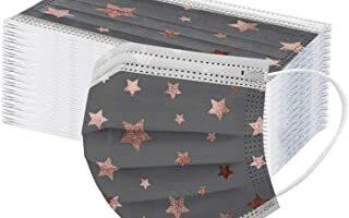 mascarillas Desechables De Adulto con Estampado De Estrella De Cinco Puntas