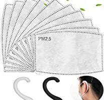 100PCS PM 2.5 Filtro de carbón activado Insertar 5 capas
