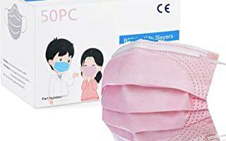 MaNMaNing Protección con Elástico 50 Unidades para Los Oídos 20200723-MANING-NM50 (z Niños Rosa-)
