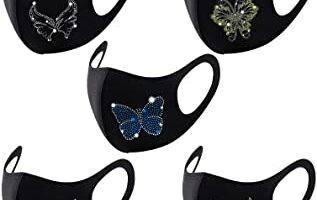 mascarillas de mariposas brillantes
