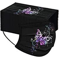 Adulto Estampado Flores De Mariposas Respirable Mascarilla_Desechable