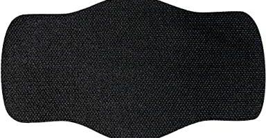 50 filtros para mascarillas - 1 capa, tejido hidrófobo, antiestático y antibacteriano, muy transpirable, 15cm c 9cm (TNT 60gr) Color Negro