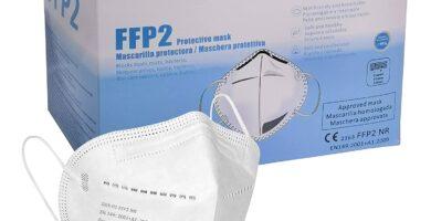 Mascarilla FFP2 CE 2163, Mascarilla de Protección Personal homologada. 5 capas. Alta Eficiencia Filtración BFE de 95%