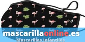 mascarillas para niños con flamencos